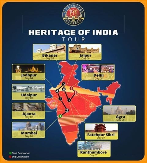 Heritage of India Maharajas Express