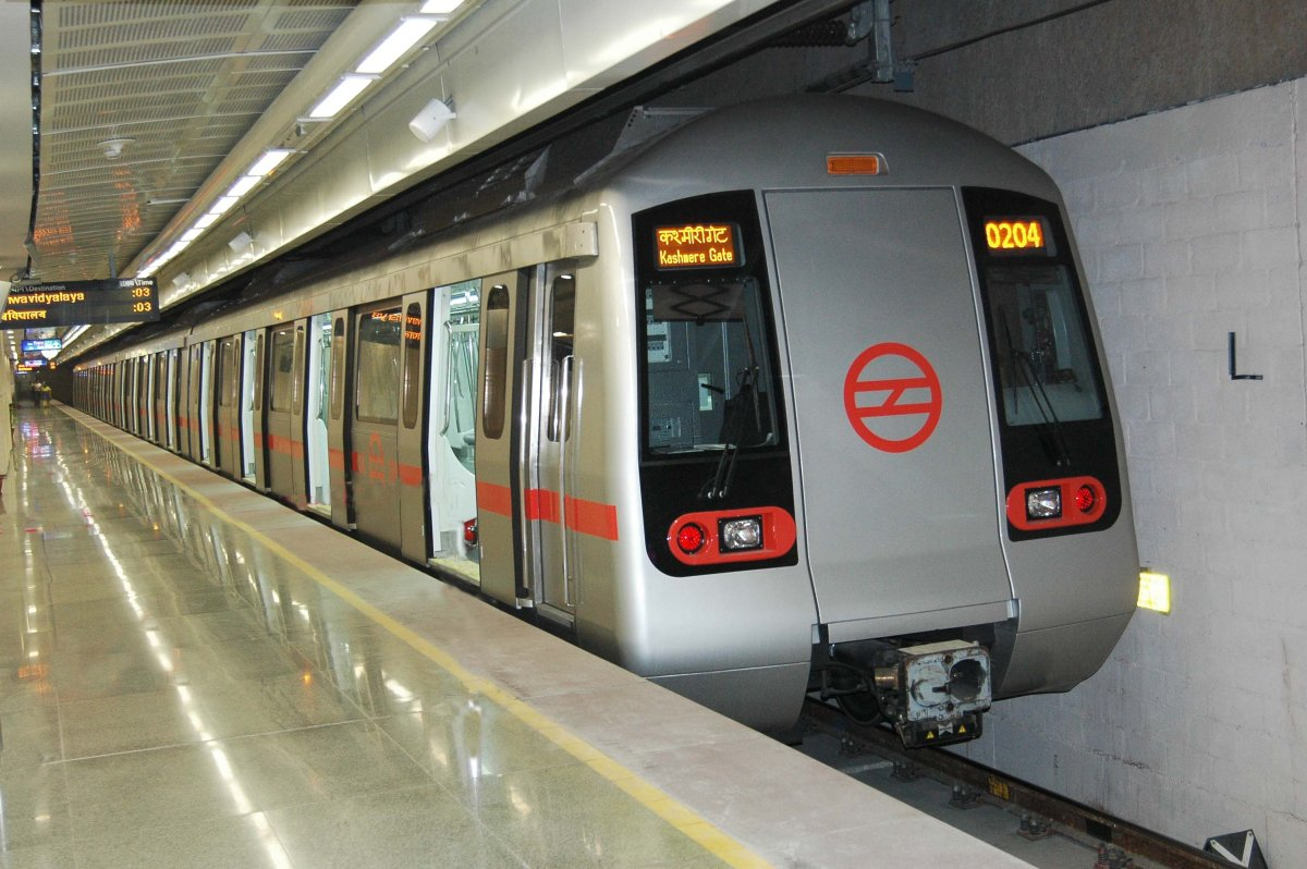 Delhi Metro trains