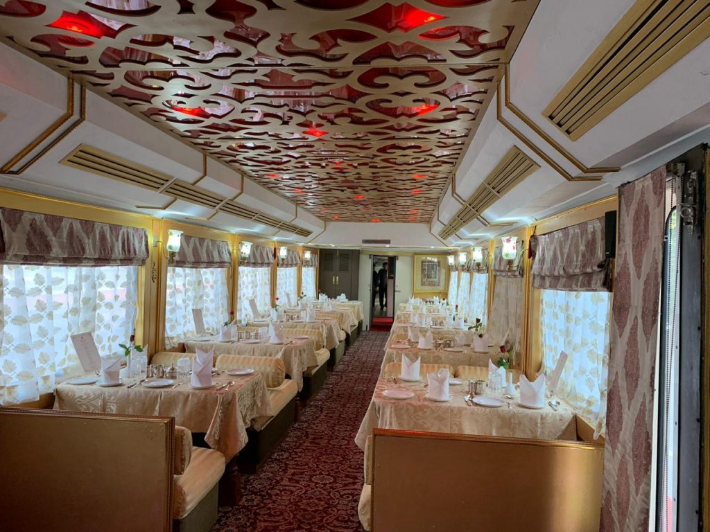 Maharajah Restaurant of Palace on Wheels