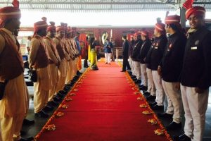 Maharajas' Express Welcome Ceremony
