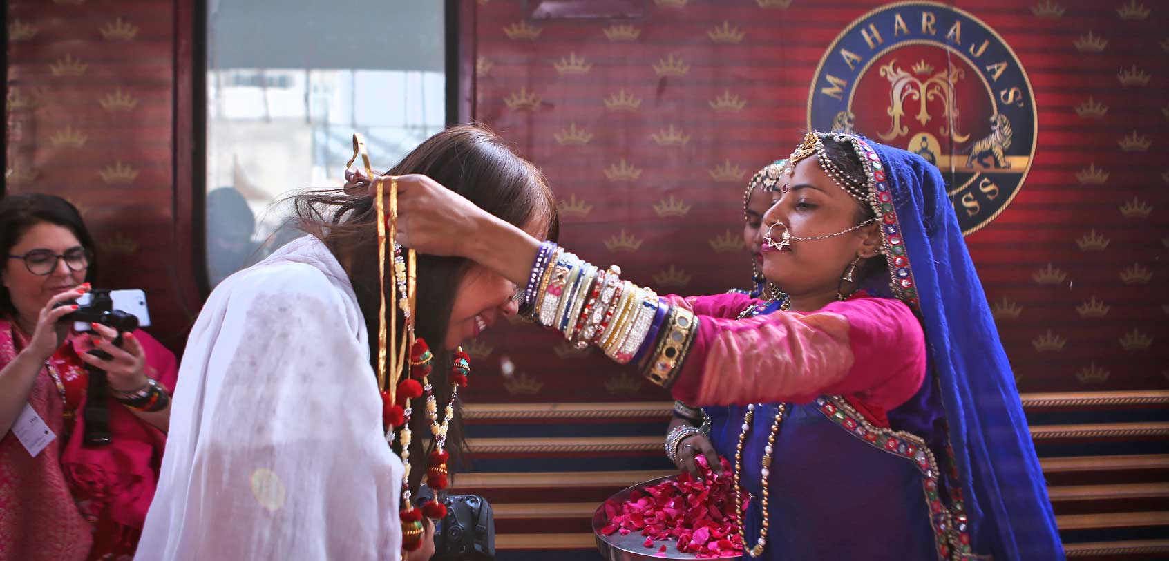Welcome Ceremony of Maharajas Express