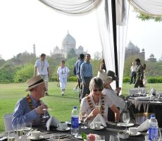Breakfast at the top of Taj Khema