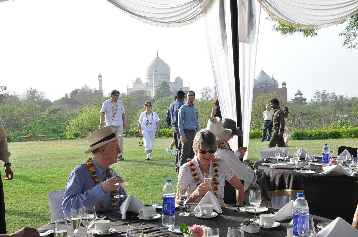Breakfast at the top of Taj Khema