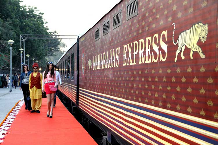 Welcome Ceremony in Maharajas' Express Train